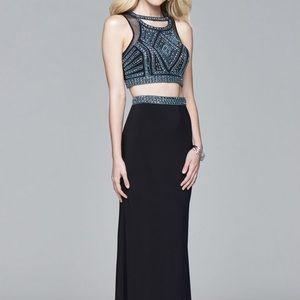 Two- piece prom dress, size 4